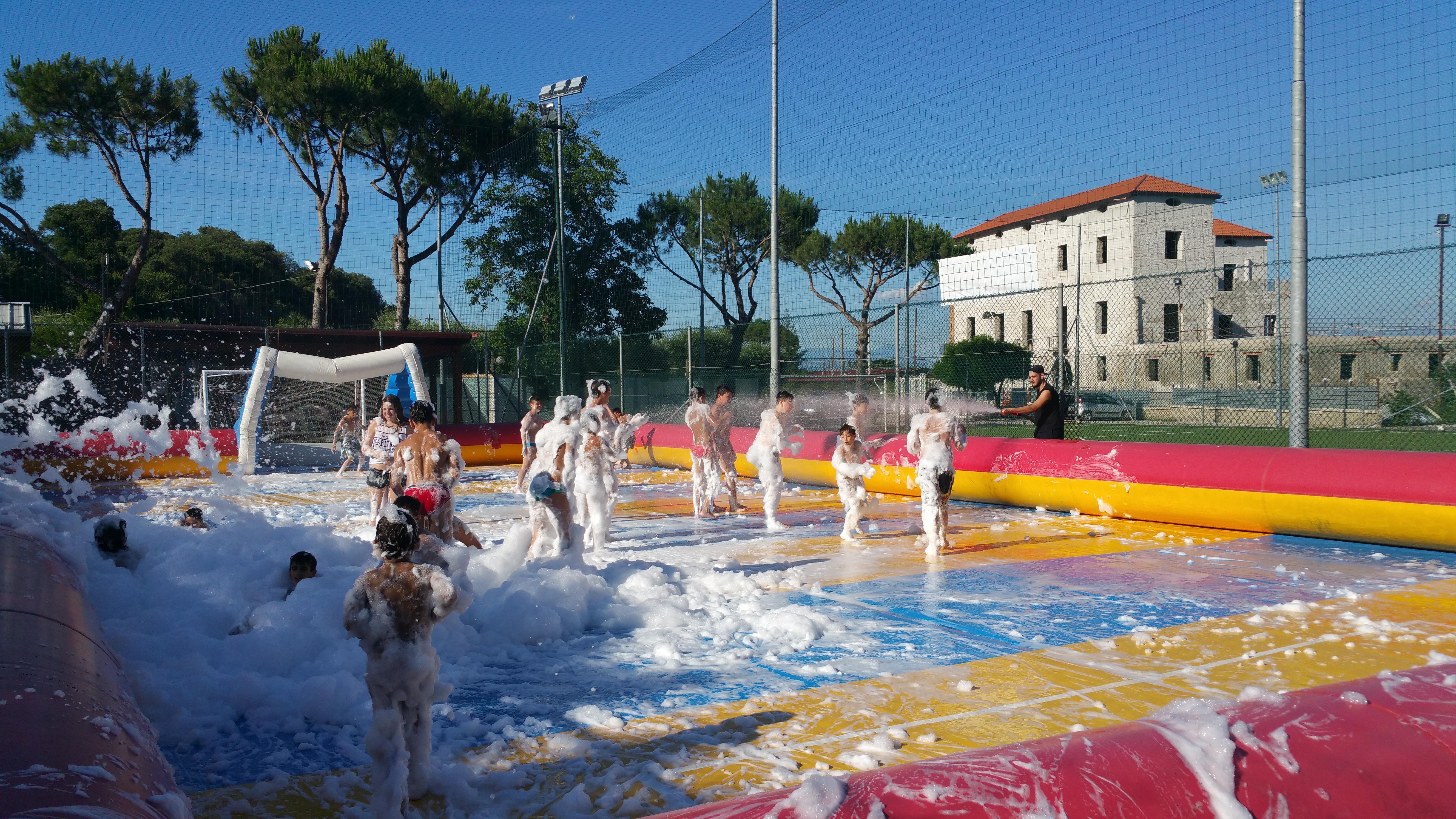 Campo Saponato con Schiuma Party